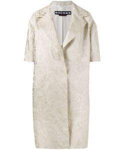 Rochas | Brocade Short Sleeve Coat Size 44