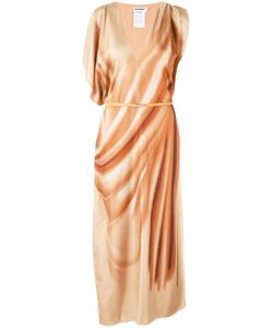 Jil Sander | Асимметричное Платье С Поясом