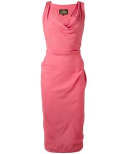 Vivienne Westwood Anglomania | Draped Neck Fitted Dress 42