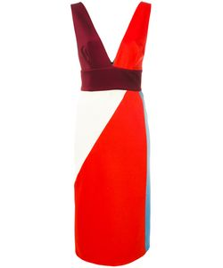 Fausto Puglisi | Deep V-Neck Colourblock Dress