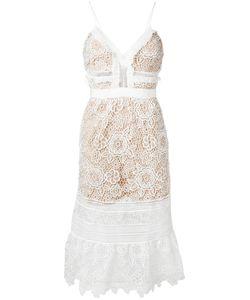 SELF-PORTRAIT | Lace Fla Dress 14 Polyester/Spandex/Elastane