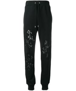 Moschino | Lace Insert Trackpants Small Cotton