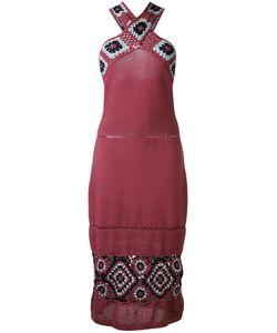 HARARE   Платье Миди С Ажурными Вставками