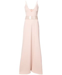 PATBO | Belted Crepe Gown Women 12