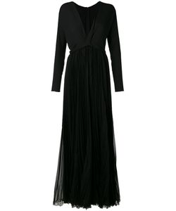 Dsquared2 | V-Neck Pleated Maxi Dress 42 Silk