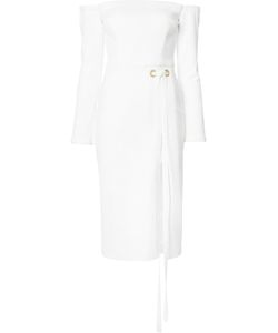 Rebecca Vallance | Harris Off-Shoulder Dress 12 Polyester/Spandex/Elastane/Cotton