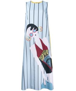 Holly Fulton | Striped Shift Dress 10 Cotton
