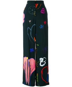 Paul Smith | Printed Wide-Leg Trousers