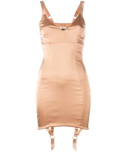 Murmur | Suspenders Applique Fitted Dress