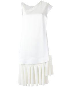 GLORIA COELHO | V Neck Asymmetric Dress Medium Polyester/Spandex/Elastane