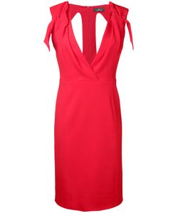 CAPUCCI | V-Neck Fitted Dress Size 40