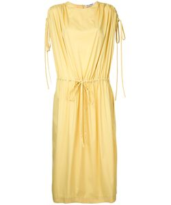 Jil Sander | Ruched Sleeve Drawstring Dress