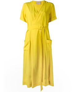 Erika Cavallini | V-Neck Belt Dress 40 Silk/Polyester/Acetate