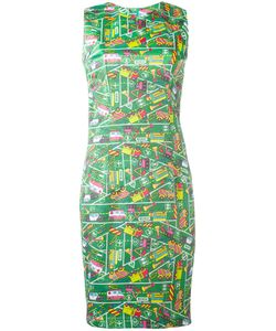 Ultràchic | Transport Print Fitted Dress Size 38