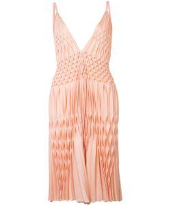 Haider Ackermann | Плиссированное Платье С V-Образным Вырезом