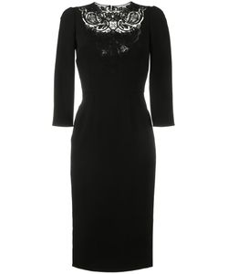 Dolce & Gabbana   Lace-Insert Fitted Dress 46 Acetate/Viscose/Spandex/Elastane/Polyester