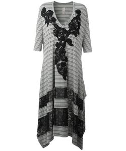 Antonio Marras | Striped Asymmetric Dress 42 Polyester/Spandex/Elastane/Viscose