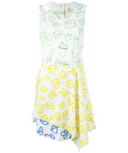 Ports | 1961 Lip Print Dress 40 Cotton