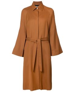 ROSETTA GETTY | Belted Coat 4 Cotton/Cupro/Viscose