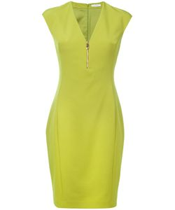 Versace Collection | Zipped V-Neck Dress