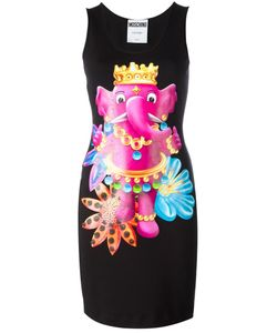 Moschino | Crowned Elephant Tank Dress 40 Cotton/Other Fibres