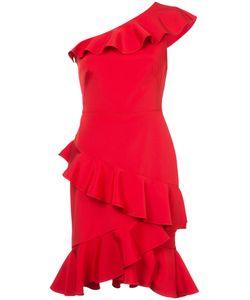 Marchesa Notte | One Shoulder Ruffle Dress Women