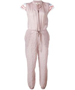 Lemlem | Ruffled Striped Jumpsuit Large Cotton/Ramie/Polyurethane