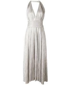 Stephan Janson   Плиссированное Платье С Вырезом Халтер