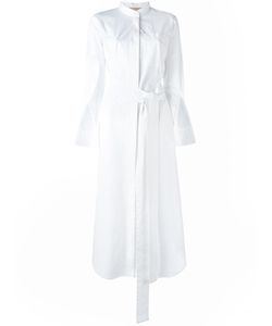 Erika Cavallini | Long Belted Shirt Dress 42 Cotton/Spandex/Elastane