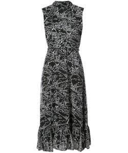 Derek Lam 10 Crosby   Sleeveless Midi Dress With Ruffle Hem