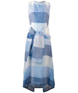 SportMax   Checked Tie Detail Dress Size 36