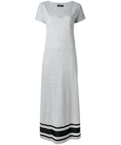 Twin-set | Maxi V-Neck Dress Small Cotton