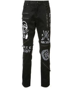 HACULLA | Embroide Slim-Fit Jeans 34 Cotton/Spandex/Elastane