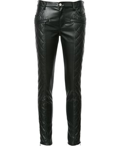 GIAMBA | Quilted Skinny Trousers 42 Polyester/Polyurethane