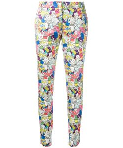 Ultràchic | Garbage Print Skinny Trousers 40 Cotton/Spandex/Elastane