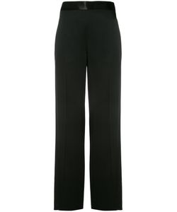 Victoria Beckham | Wide Leg Trousers 10 Cotton/Acetate/Viscose