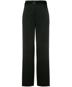 Victoria Beckham | Wide Leg Trousers 10 Cotton/Acetate/Viscose