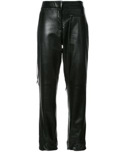 HELLESSY | Emir Leather Trousers 6 Silk/Lamb Nubuck Leather
