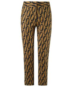 ANDREA MARQUES | Printed Straight Cropped Trousers