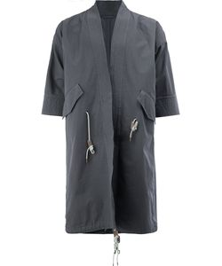 WOOSTER + LARDINI | Cropped Sleeves Coat