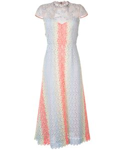 Gabriela Hearst | Embellished Sheer Flared Dress Size 40