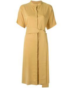 EGREY | Lace Up Detail Dress 42 Viscose