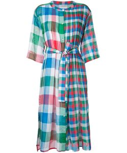 Tsumori Chisato | Checked Pleated Bib Dress