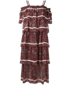 ROSSELLA JARDINI   Ruffled Off Shoulder Dress Size 42