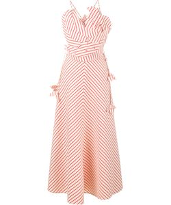 Rosie Assoulin | Stripe Pineapple Maxi Dress 4 Linen/Flax/Cotton