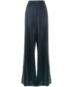 Lot 78 | Lot78 Line Embroide Wide-Leg Trousers 27 Cupro/Viscose