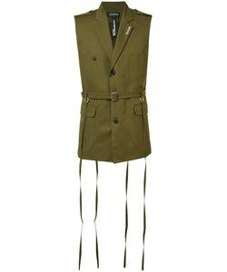 Icosae | Sleeveless Military Jacket Small Cupro/Cotton