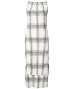Helmut Lang | Pleated Plaid Dress