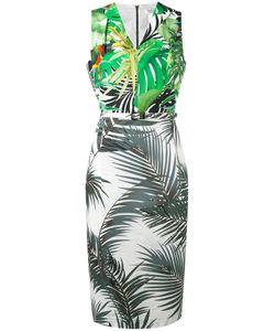 Max Mara | Contrast Palm Print Dress