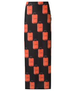 AMIR SLAMA | Long Printed Skirt P Elastodiene